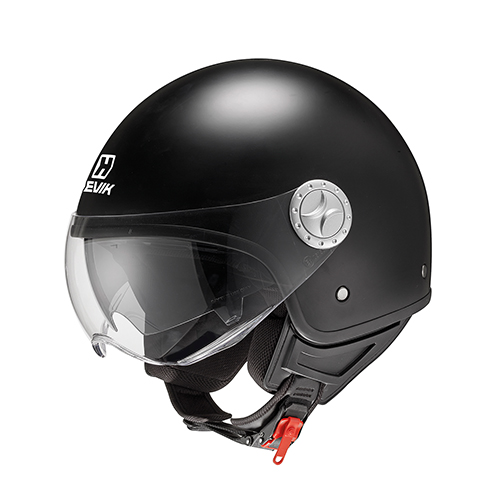 Jet helmet COOL BLACK in thermoplastic material, micrometric strap and removable interior