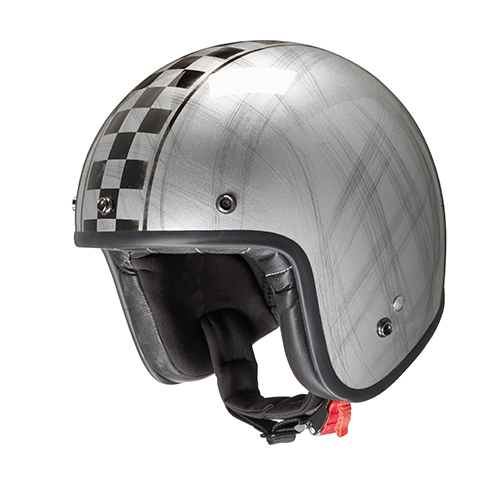 Jet helmet GARAGE in composite fibers with micrometric strap