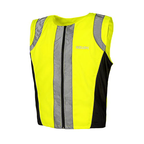 Unisex vest made with fluorescent material TESEO
